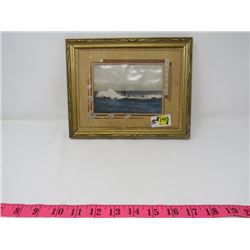OLD FRAMED SUBMARINE PHOTO