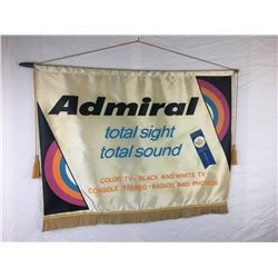 """27""""X 21"""" VINTAGE ADMIRAL T.V. AND RADIO ADVERTISING"""
