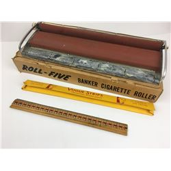 ROLL-FIVE CIGARETTE ROLLER W/ BOX & SOME LONG VOGUE PAPERS
