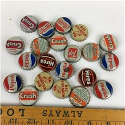LOT OF CORK LINED BOTTLE CAPS - PEPSI, MOUNTAIN DEW, CRUSH, ROOTBEER…