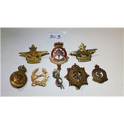 LOT OF 8 ARMY BADGES, *SOME RARE*