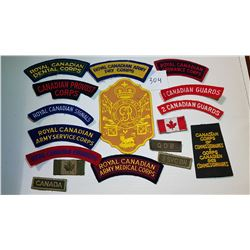 CANADIAN ARMY PATCHES, *LARGE LOT*