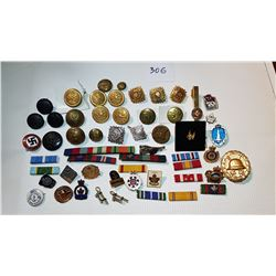 ARMY RELATED ITEMS, US, CANADA, GERMANY, LARGE LOT
