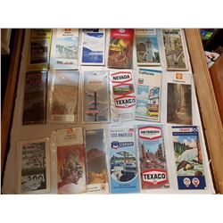 18 VINTAGE ROAD MAPS, OIL. CO ADVERTISING