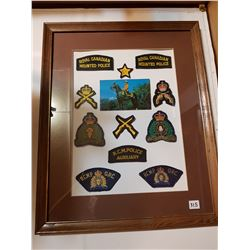 RCMP VINTAGE PATCHES, *FRAMED*