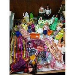 MASSIVE BARBIE LOT, ALL OLDER, ONE FROM 1957, OTHERS 60s, 70s & 80s