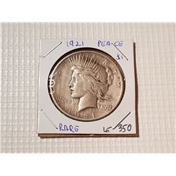 1921 USA SILVER PEACE DOLLAR *VERY RARE*