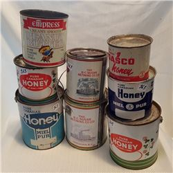 GENERAL STORE TIN CANS LOT OF 8