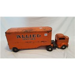"""GIANT TOY LINCOLN ALLIED TRUCK TRAILER, 23"""""""