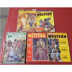 5 WESTERN MAGAZINES FROM 1930-1940s
