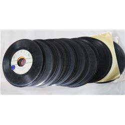 LOT OF 45 RPM RECORDS (MOSTLY NO SLEEVES)