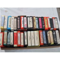 LOT OF 36 - 8 TRACK TAPES