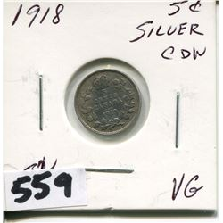 1918 CNDN SMALL SILVER NICKEL