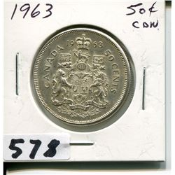 1963 CNDN SILVER 50 CENT PC