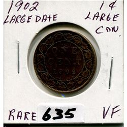 1902 CNDN LARGE PENNY LARGE DATE