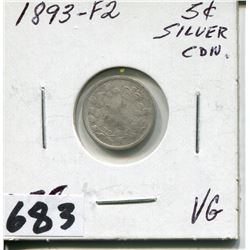 1893 CNDN SMALL SILVER NICKEL