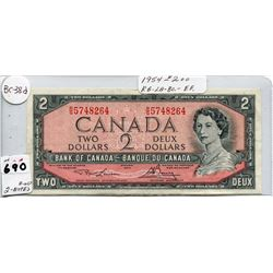 1954 CNDN TWO DOLLAR NOTE