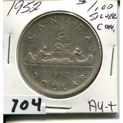 1952  CNDN SILVER 50 CENT PC