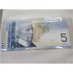 2010 CNDN FIVE DOLLAR NOTE J(ENKINS/CARNEY)