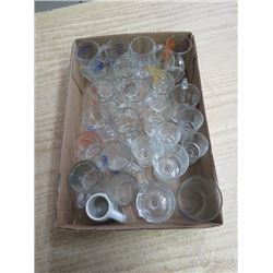 LOT OF SHOT GLASSES