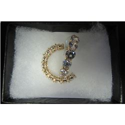 Classic gold hoop earrings with swarovski crystal accents