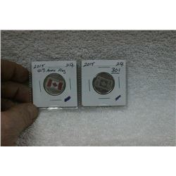 Canada Twenty-five Cent Coins (2)