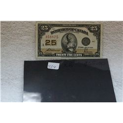 Dominion of Canada Twenty-five Cent Bank Note