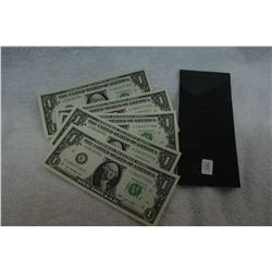 U.S.A. One Dollar Bank Notes (5)