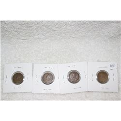 Canada One Cent Coins (4)