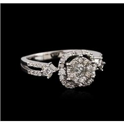 14KT White Gold 0.44 ctw Diamond Ring
