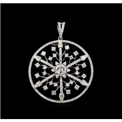 3.55 ctw Diamond Pendant - 18KT White Gold