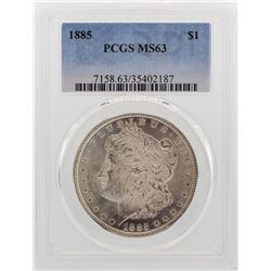 1885 $1 Morgan Silver Dollar Coin PCGS MS63