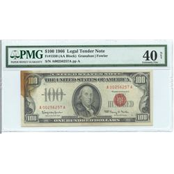 1966 $ 100 Legal Tender Note PMG Extremely Fine 40 Net