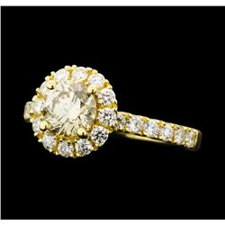 1.66 ctw Diamond Ring - 14KT Yellow Gold