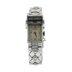 Longines Lady's Bracelet Watch - Platinum and 14KT White Gold