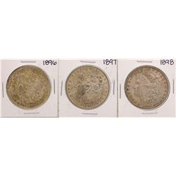 Lot of 1896-1898 $1 Morgan Silver Dollar Coins