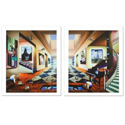 Perfect Afternoon Diptych by Ferjo