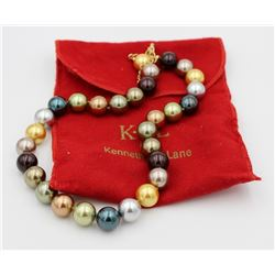 K.J.L. BY KENNETH JAY LAN FAUX PEARL NECKLACE K.J.L. BY KENNETH JAY LANE MULTI-COLOR FAUX PEARL 20""