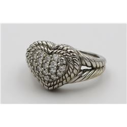 JUDITH RIPKA STERLING SILVER RING JUDITH RIPKA STERLING SILVER RING. SIZE 9.5. PRE-OWNED. ESTIMATE: