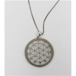 BEAUTIFUL INDIA STERLING SILVER NECKLACE BEAUTIFUL INDIA STERLING SILVER NECKLACE AND CHAIN. WEB-LIK