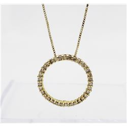 """STUNNING DIAMOND AND .925 NECKLACE STUNNING DIAMOND AND .925 NECKLACE ON 17.5"""" CHAIN. GOLD TONED. CI"""
