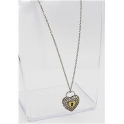 BEAUTIFUL STERLING SILVER KEY TO MY HEART NECKLACE BEAUTIFUL STERLING SILVER NECKLACE WITH KEY TO MY