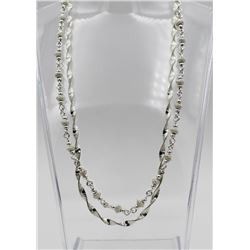 TWO BEAUTIFUL DETAILED STERLING SILVER CHAINS TWO BEAUITFUL DETAILED STERLING SILVER CHAINS. ONE HAS