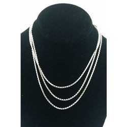 BEAUTIFUL 3-STRAND STERLING SILVER NECKLACE BEAUTIFUL 3-STRAND STERLING SILVER NECKLACE. 3 DIFFERENT