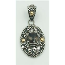 """STERLING SILVER AND 18K  PENDANT BEAUTIFUL STERLING SILVER AND 18K PENDANT STAMPED """"INDONESIA"""". 15.2"""