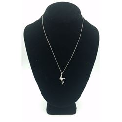 STERLING SILVER CROSS NECKLACE STERLING SILVER CROSS NECKLACE WITH CZ IN THE CENTER. 3.3 GRAMS. PRE-