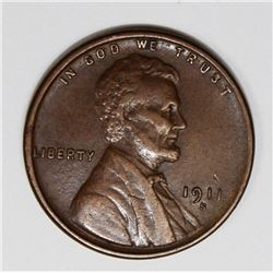 1911-S LINCOLN CENT XF AU KEY COIN 1911-S LINCOLN CENT XF AU KEY COIN! ESTIMATE: $100-$150