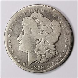 1889-CC MORGAN SILVER DOLLAR VG KEY COIN! 1889-CC MORGAN SILVER DOLLAR VG KEY COIN! ESTIMATE: $600-$