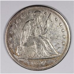 1859-S SEATED DOLLAR XF VERY RARE DATE! 1859-S SEATED DOLLAR XF VERY RARE DATE! SCRACTCHES ON OBVERS