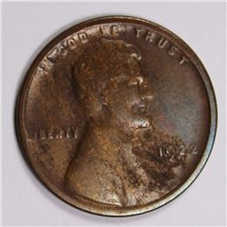 """1922 """"NO D""""  LINCOLN CENT VG KEY COIN 1922 """"NO D""""  LINCOLN CENT VG KEY COIN. ESTIMATE: $500-$600"""